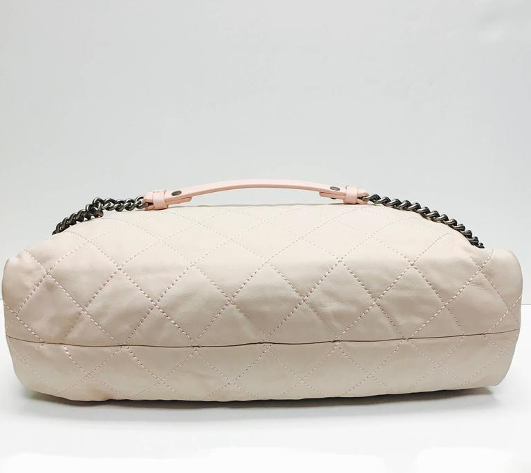 CHANEL Light Pink Quilted Calfskin Leather Coco Daily Hobo Bag 13C For Sale 1