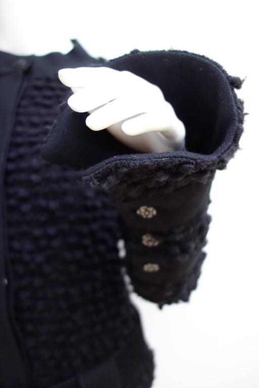 Amazing Chanel Black Wool Popcorn Tweed Gripoix Belt Jacket Size 40 3