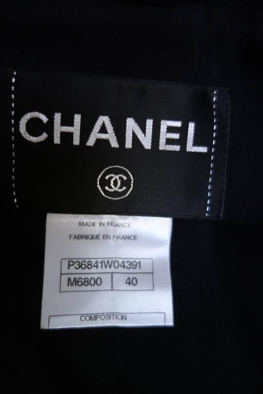 Amazing Chanel Black Wool Popcorn Tweed Gripoix Belt Jacket Size 40 9