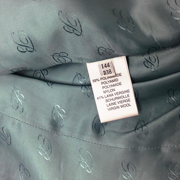 Blumarine Aqua And Gold Embroidered Tweed Jacket At 1stdibs
