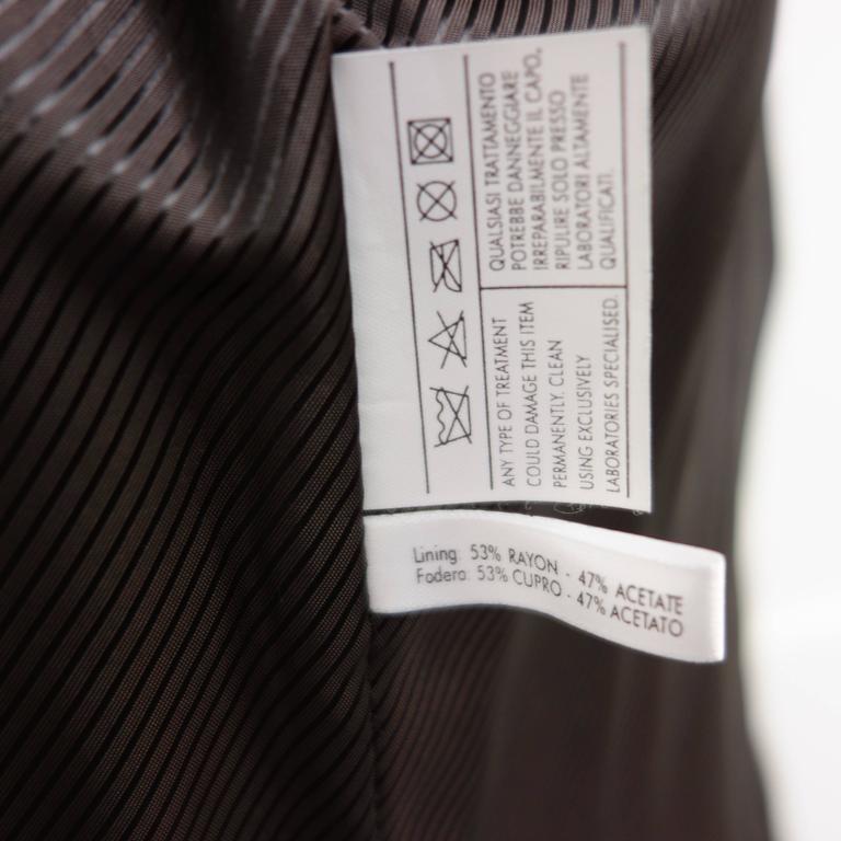 Salvatore Ferragamo Lapin Fur Animal Print Leather Coat  9