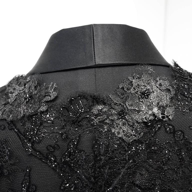 Chanel 11A Black Lesage Lace Runway Jacket Size 40 4