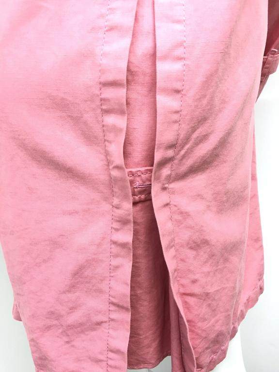 BURBERRY LONDON Signature Pink Fringed Trench Coat New For Sale 4