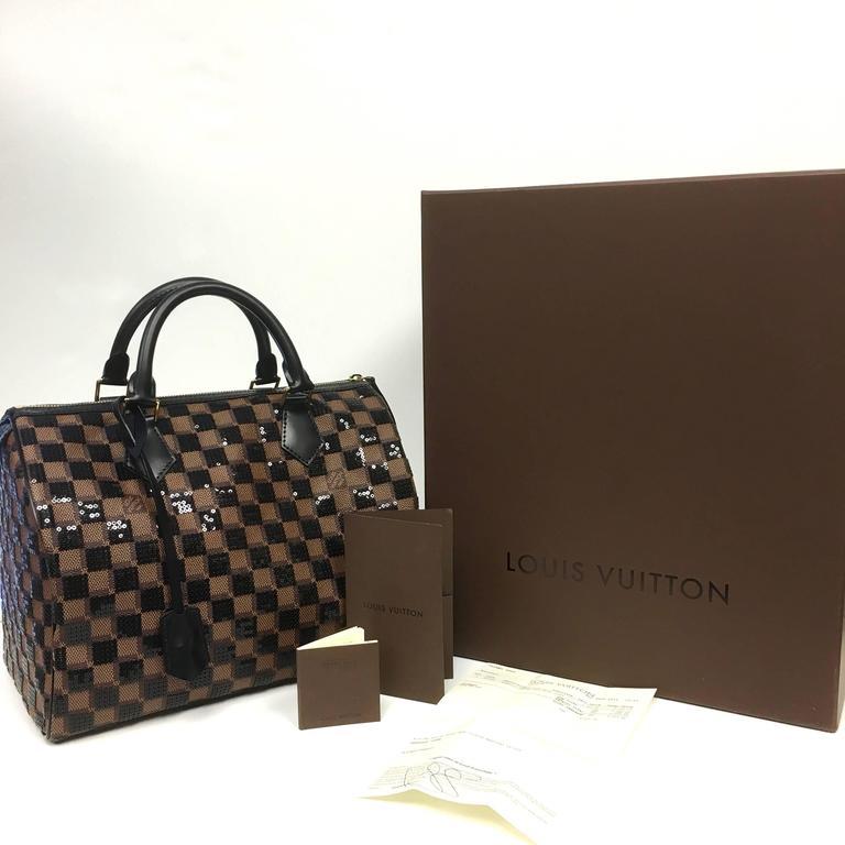 a8b1f747cb8 Authentic Louis Vuitton Speedy 30 Damier Paillettes Noir Sequin Purse  Condition  New Louis Vuitton Pre