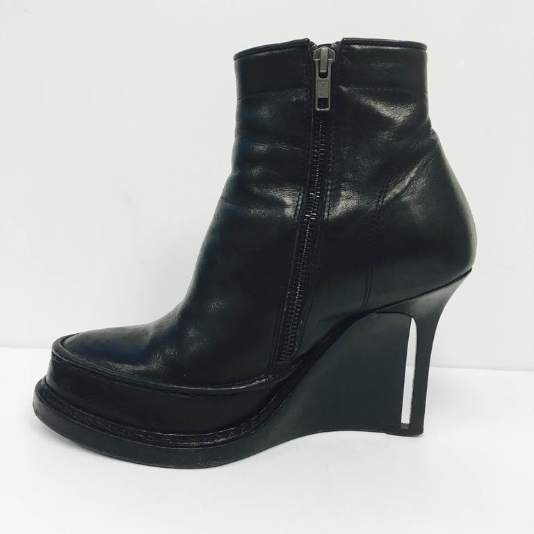 demeulemeester s black wedge ankle boot 38 at