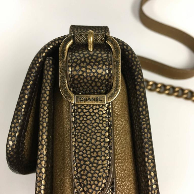 85f8a6bffa81e5 CHANEL Back To School 2.55 Flap Mini Iridescent Brown Bronze Cross Body Bag  For Sale 4
