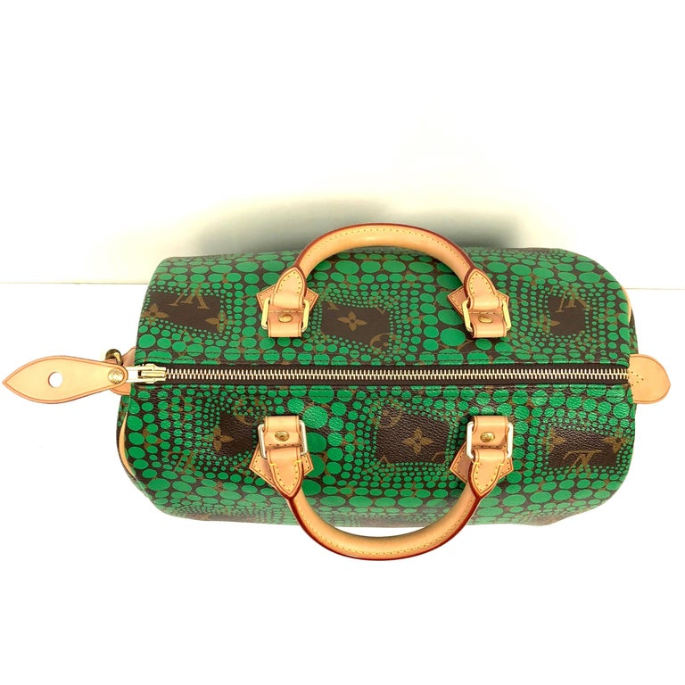 5931965e5dfc Louis Vuitton Limited Edition Speedy 30 bag bright green dotted Op Art  graphic pattern from artist