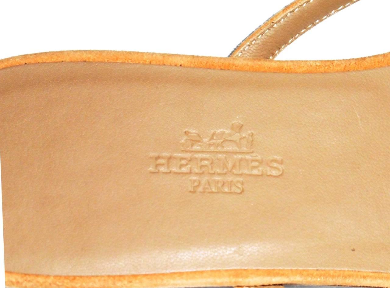 New HERMES  Sandals/Shoes - Beige Tan - Size 37  Nautilus 3