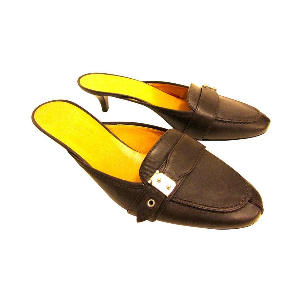 Kitten Heel Mule Shoes
