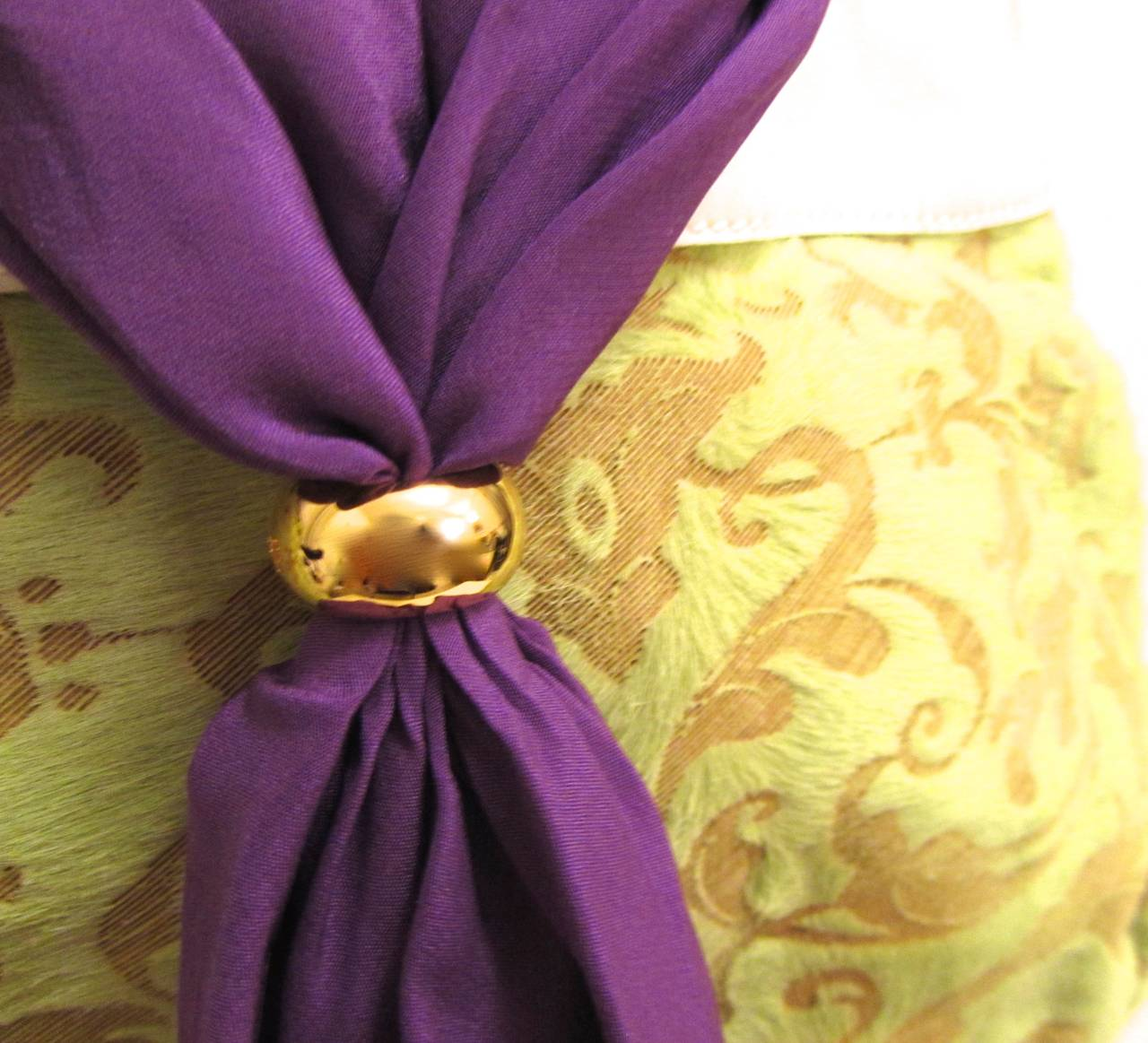 De Grisogono Geneve Couture Hand Bag - Green, White, and Purple In New Never_worn Condition For Sale In Boca Raton, FL