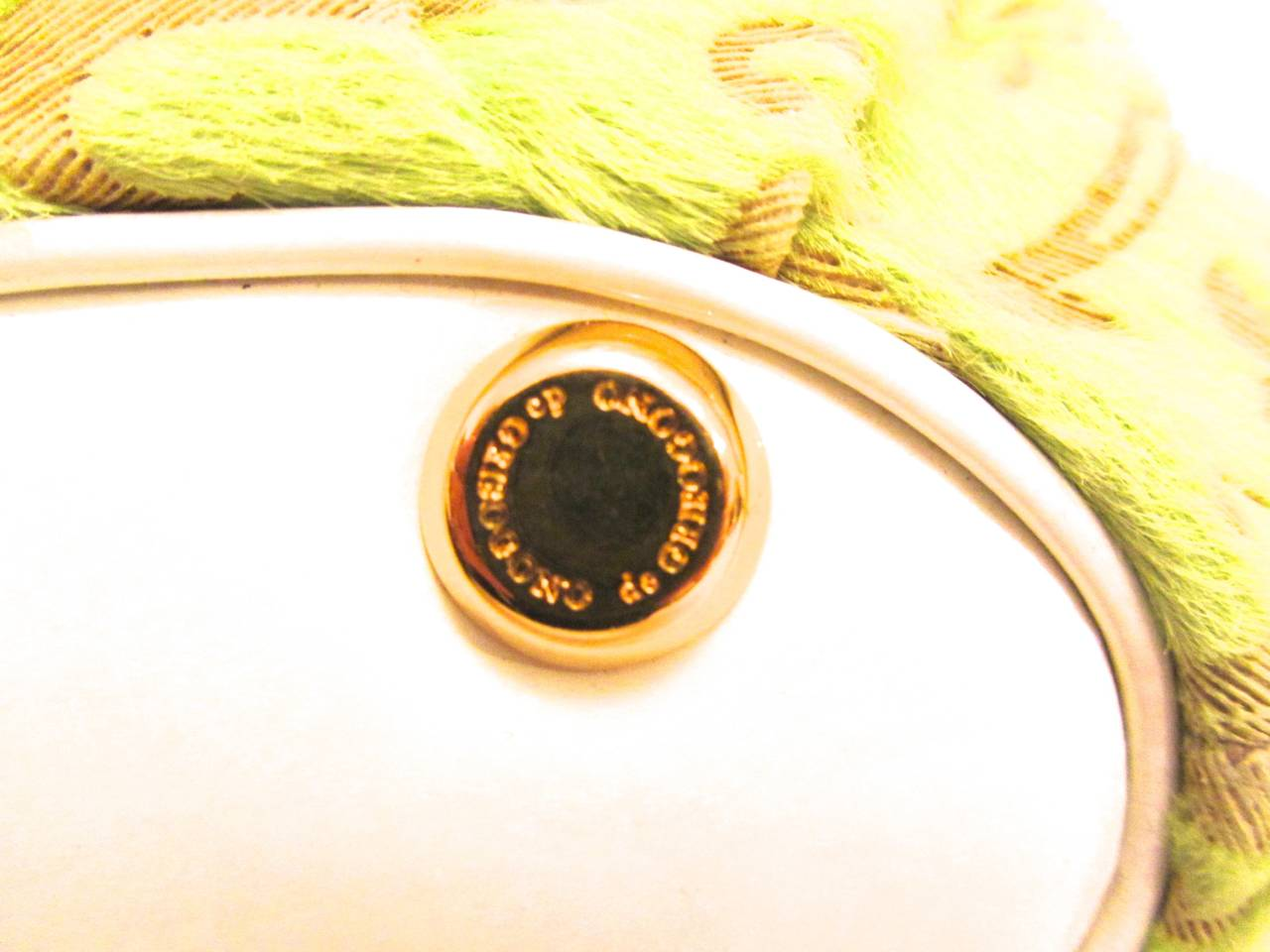 De Grisogono Geneve Couture Hand Bag - Green, White, and Purple For Sale 3