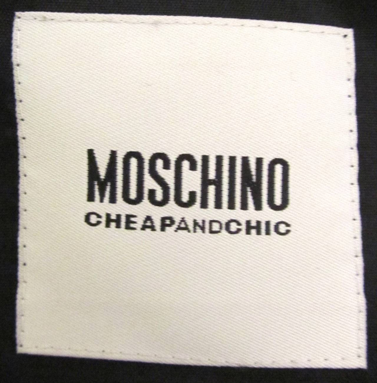 "Moschino ""Cheap and Chic"" Jacket - Black Wool with Silk Crepe Trim 6"
