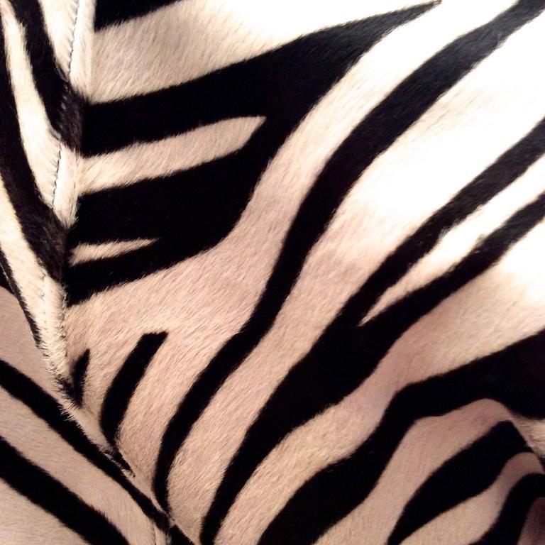 Ralph Lauren Purple Label Zebra Pattern Fur Coat - New In Excellent Condition For Sale In Boca Raton, FL