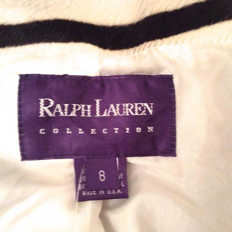 Ralph Lauren Purple Label Zebra Pattern Fur Coat - New For Sale 5