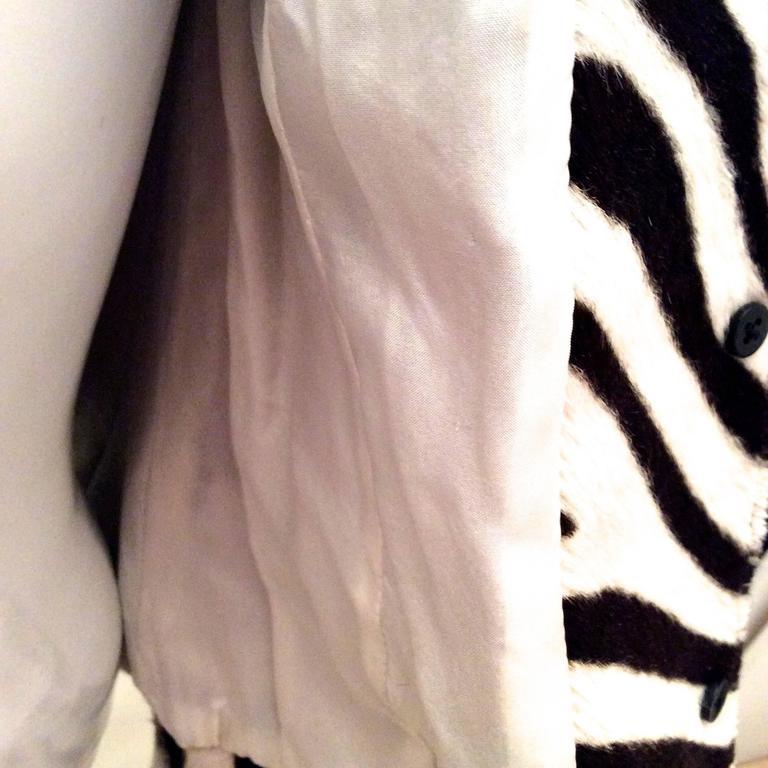 Ralph Lauren Purple Label Zebra Pattern Fur Coat - New For Sale 4