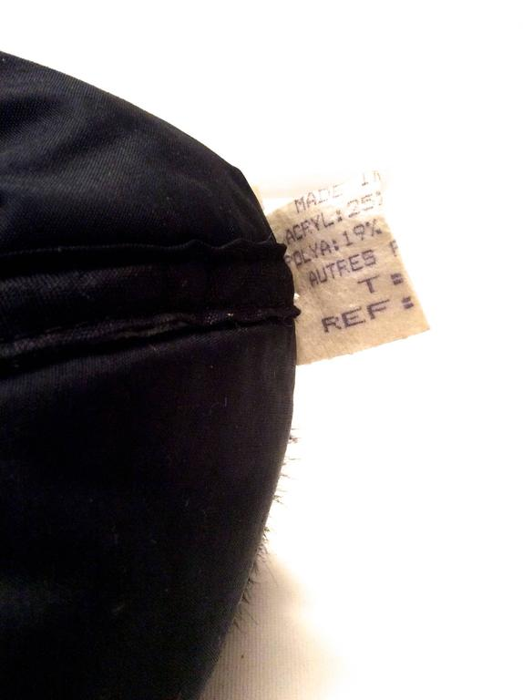 1960's Mod Silver and Black Geometric Hat In Excellent Condition For Sale In Boca Raton, FL