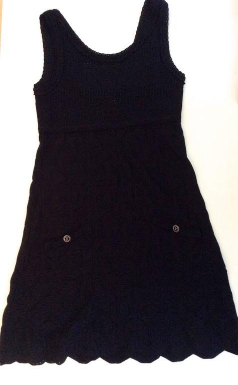 Chanel Black Dress - Size 40  For Sale 3