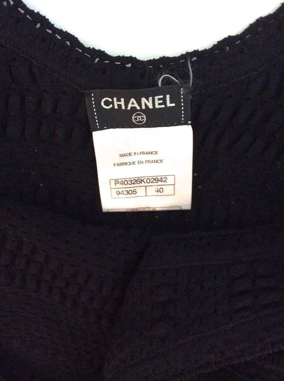Chanel Black Dress - Size 40  For Sale 4