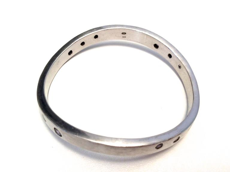 Balmain Sterling Silver and Amethyst Bracelet  4