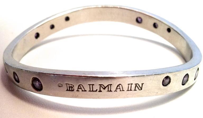 Balmain Sterling Silver and Amethyst Bracelet  5