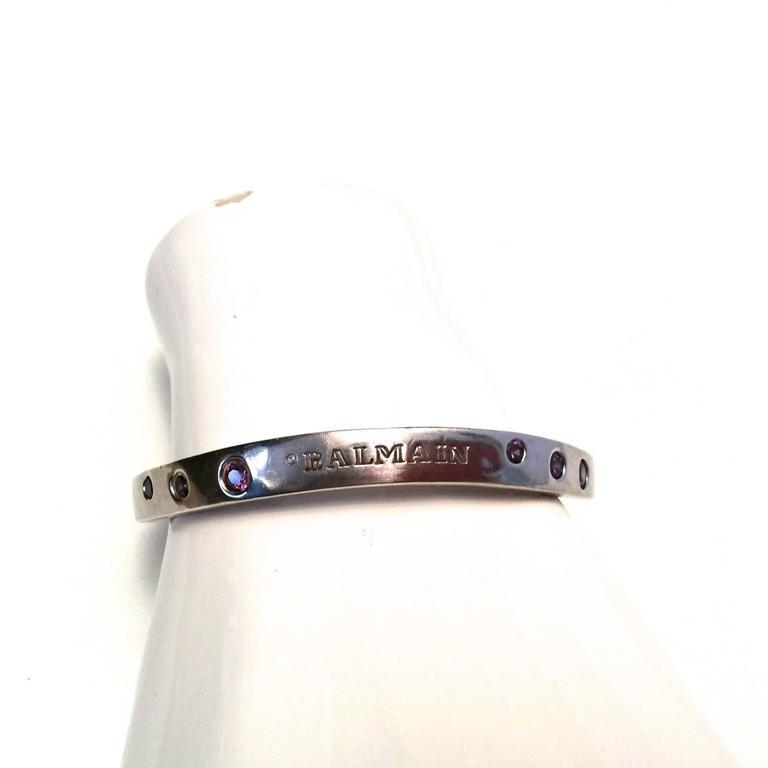 Balmain Sterling Silver and Amethyst Bracelet  6