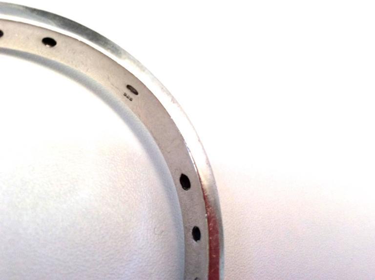 Balmain Sterling Silver and Amethyst Bracelet  8