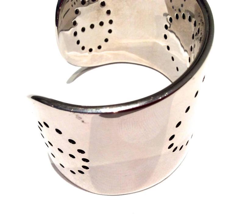 Women's Hermes Eclipse Cuff Bracelet - Sterling Silver For Sale