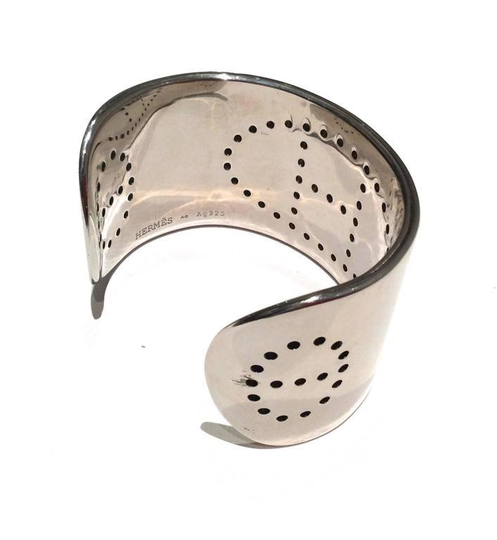 Hermes Eclipse Cuff Bracelet - Sterling Silver For Sale 1