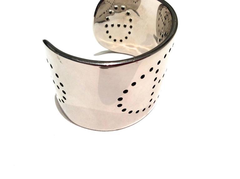 Hermes Eclipse Cuff Bracelet - Sterling Silver For Sale 2