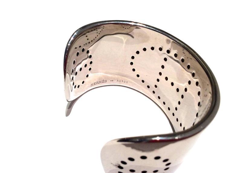 Hermes Eclipse Cuff Bracelet - Sterling Silver For Sale 4