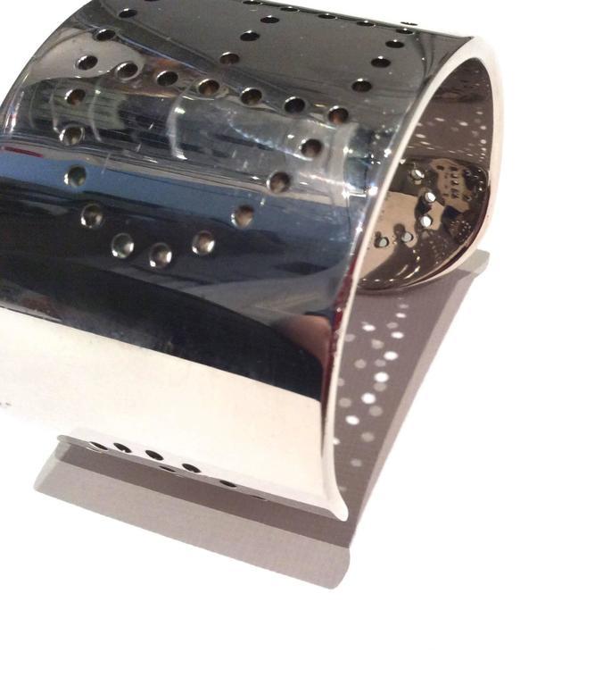 Hermes Eclipse Cuff Bracelet - Sterling Silver 7