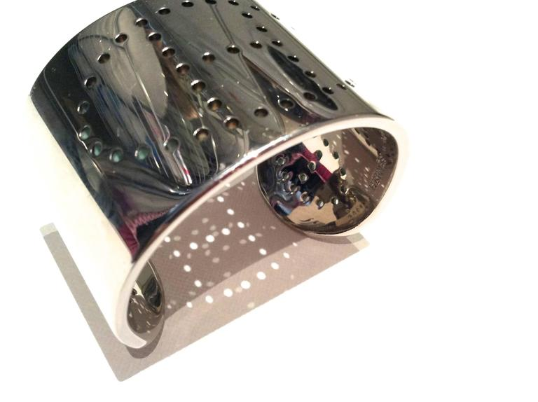 Hermes Eclipse Cuff Bracelet - Sterling Silver 9