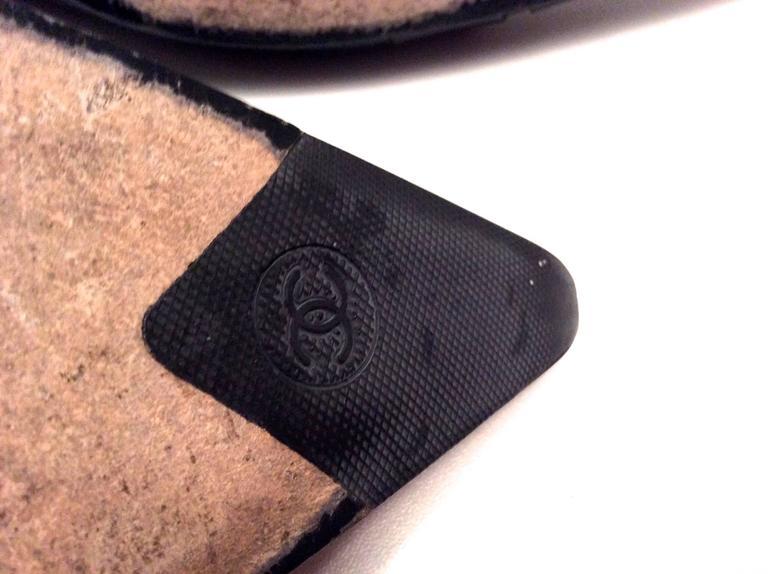 Chanel Black Leather Pumps - Size 38 8