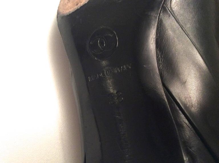 Chanel Black Leather Pumps - Size 38 9