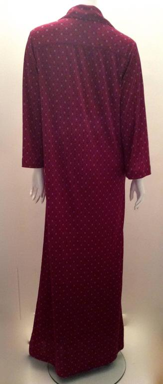 Red Christian Dior - Miss Dior 1970's Maxi Day Dress For Sale