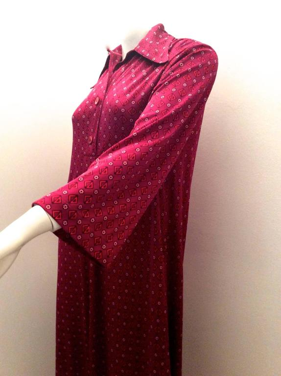 Christian Dior - Miss Dior 1970's Maxi Day Dress In Excellent Condition For Sale In Boca Raton, FL