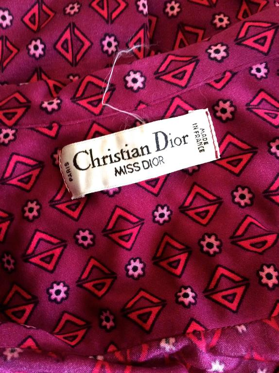 Christian Dior - Miss Dior 1970's Maxi Day Dress For Sale 2