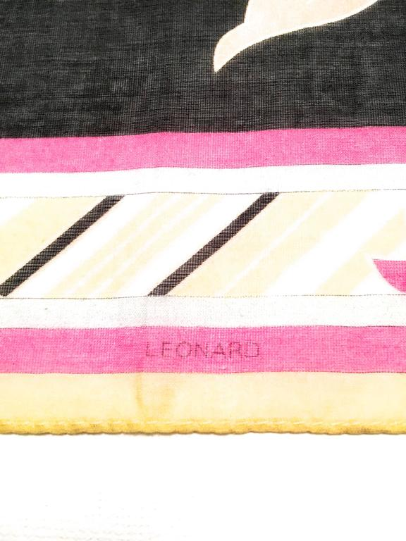 New Leonard Magnificent Floral Scarf For Sale 2