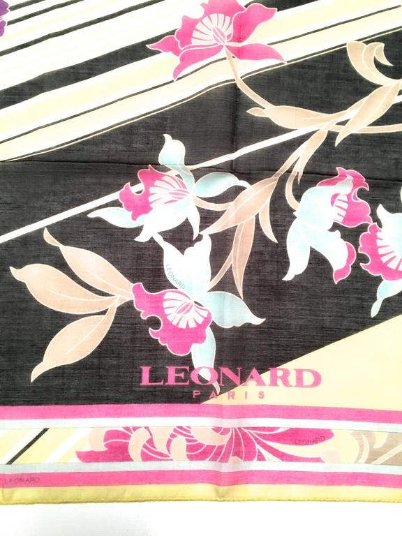 New Leonard Magnificent Floral Scarf For Sale 3