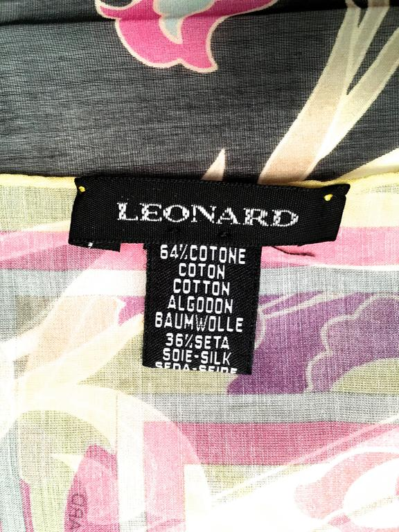 New Leonard Magnificent Floral Scarf For Sale 5