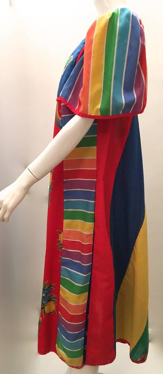 This colorful Jeanne Marc from Saks Fifth Avenue is a beautiful example of Jeanne Marc's designs. It is from the 1980's and was purchased at Saks Fifth Avenue. It has never been worn and it has been in my collection since it was purchased. The