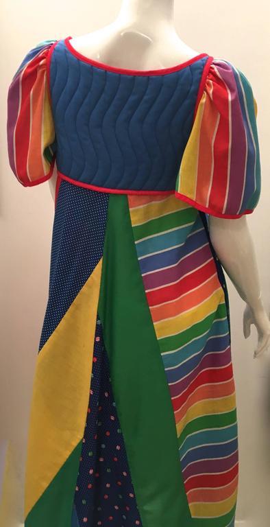 1980's Jeanne Marc Maxi Dress 5