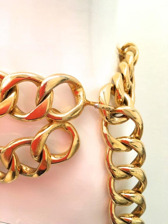 Chanel Gold Tone Metal Chain Belt  4