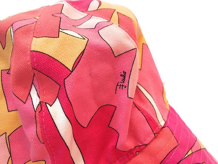 Emilio Pucci Hat and Matching Handbag 6