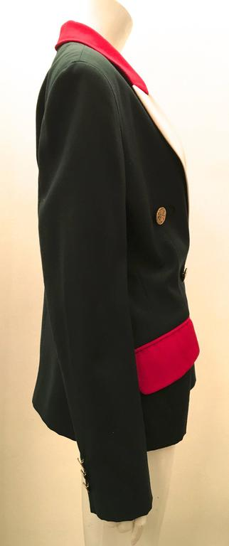 Moschino Blazer - Green, Red, and Cream 2