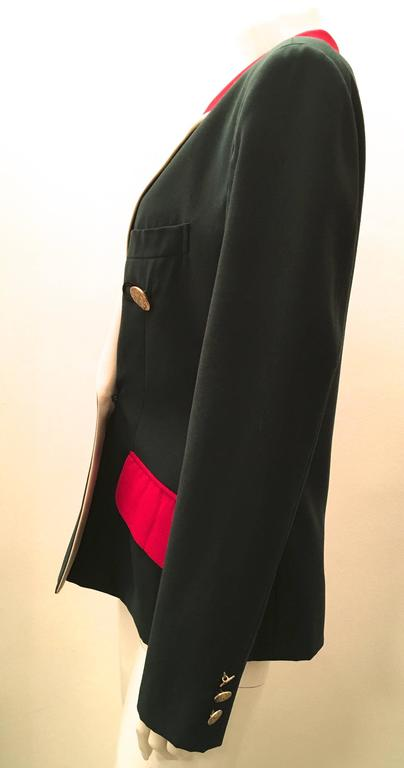 Moschino Blazer - Green, Red, and Cream 4