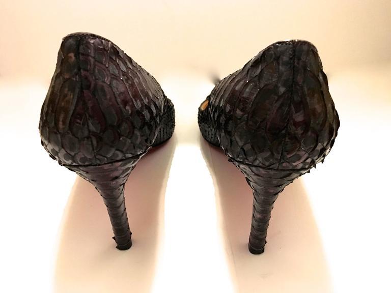 Christian Louboutin Python Heels - Size 37.5 3
