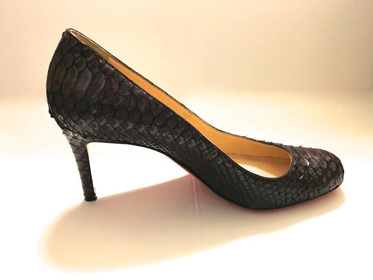 Christian Louboutin Python Heels - Size 37.5 5