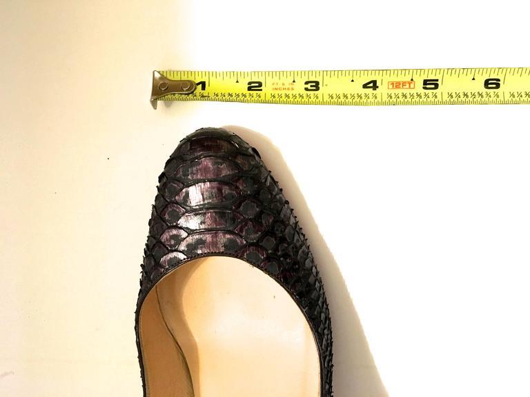 Christian Louboutin Python Heels - Size 37.5 4