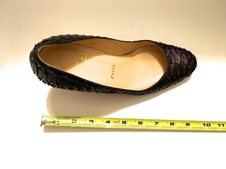 Christian Louboutin Python Heels - Size 37.5 7